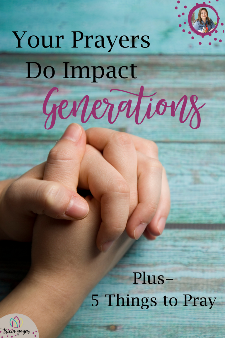 Do your prayers matter—not just for today or this year—but for generations? Can the prayers you pray today and the faith steps you take this week impact your descendants 100 years from now? Yes, they can! Your prayers do impact GENERATIONS!