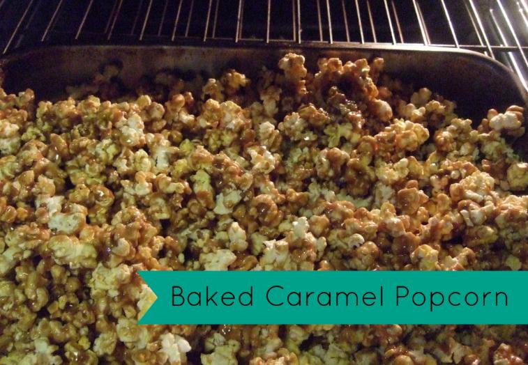 Baked caramel popcorn! triciagoyer.com