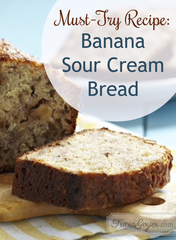 Must-try recipe: Banana sour cream bread!