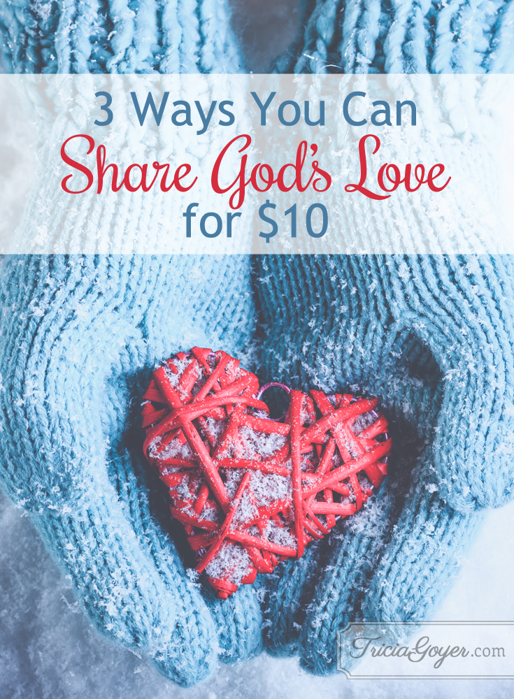 Tricia Goyer shares 3 ways you can spread God's love for only $10! Learn how you can too with ECCU's #GiveTen campaign!