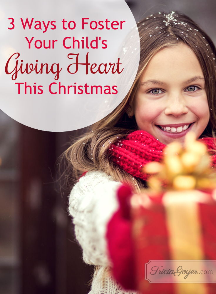3 Ways to Foster Your Child's Giving Heart This Christmas | by Lorie Lee {+ giveaway!}