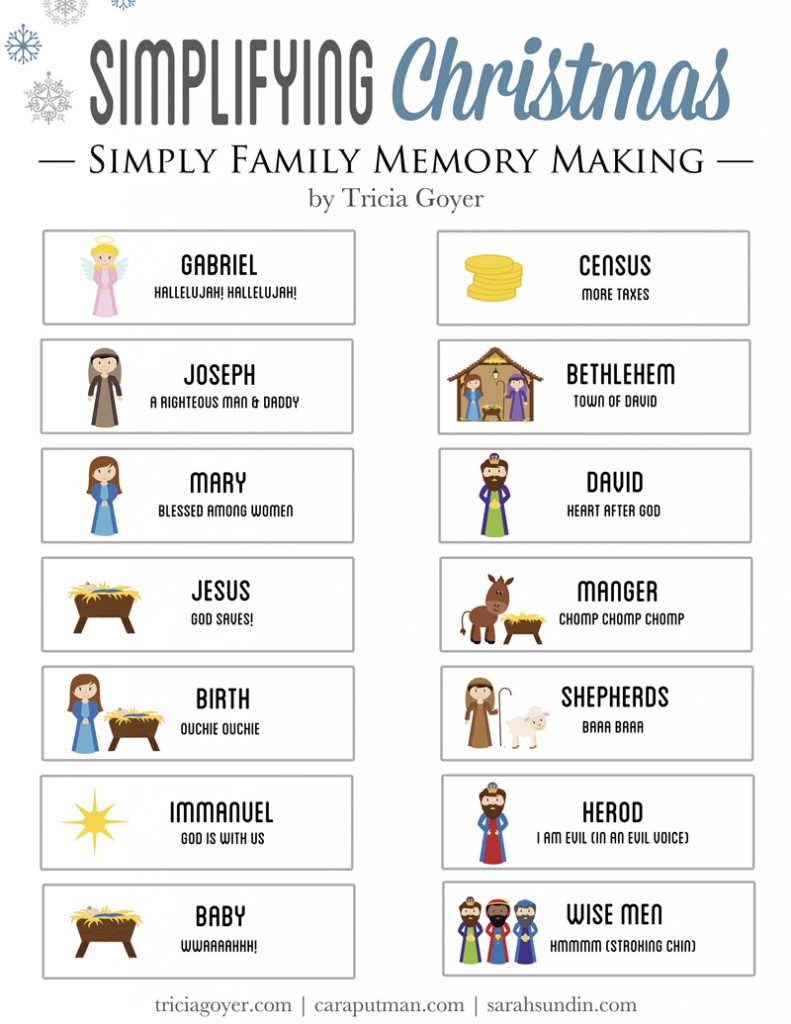 Free Christmas story printable to read through with your family this Christmas!