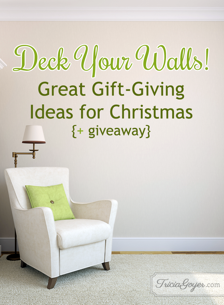 Deck your walls! Great gift-giving ideas for Christmas. triciagoyer.com