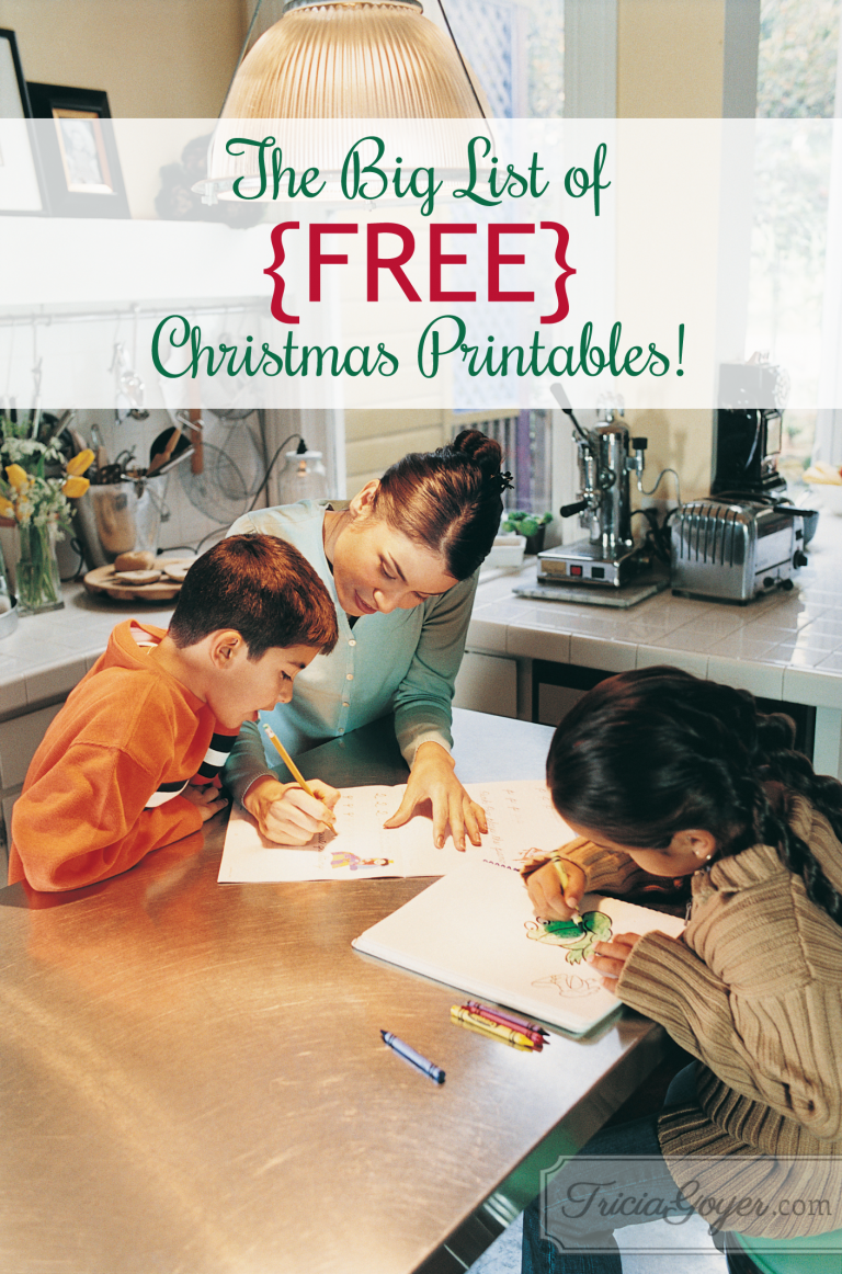 The big list of FREE Christms printables! triciagoyer.com