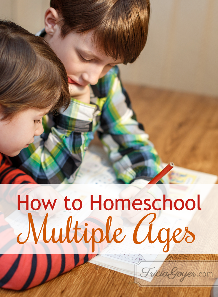 How to homeschool multiple ages - triciagoyer.com