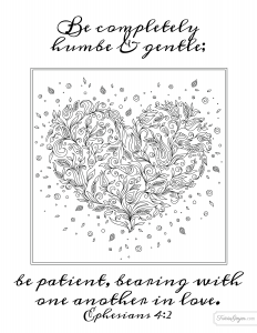 Be humble & gentle coloring page
