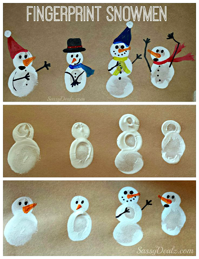 fingerprint-snowman-craft-for-kids