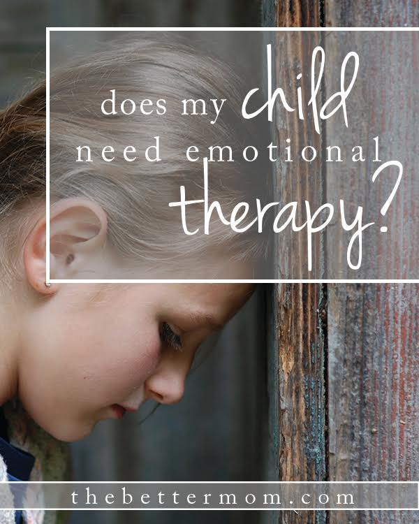 Does My Child Need Emotional Therapy?