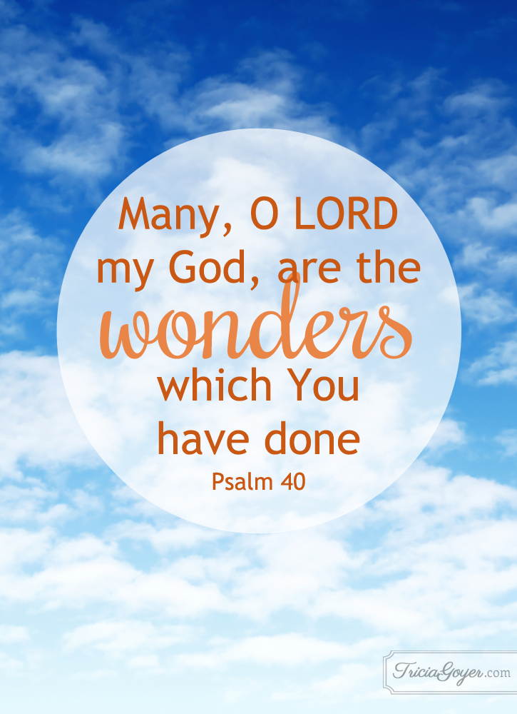 Many Wonders | Psalm 40:5