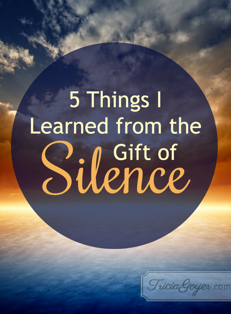 5 things i learned from the gift of silence