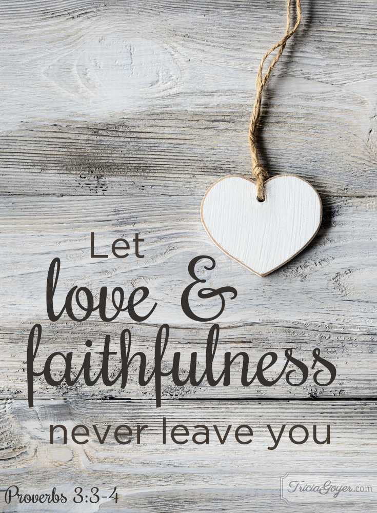 Love faithfulness proverbs 33 4 tricia goyer altavistaventures Images