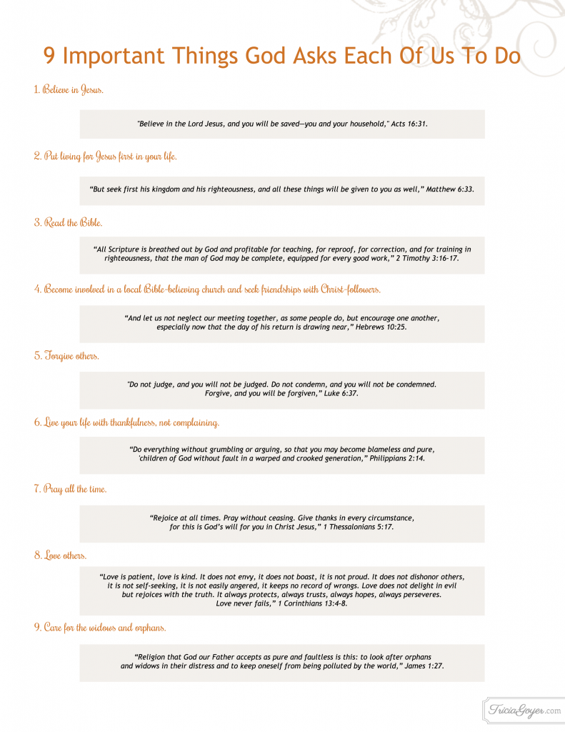 9 things god asks us to do copy