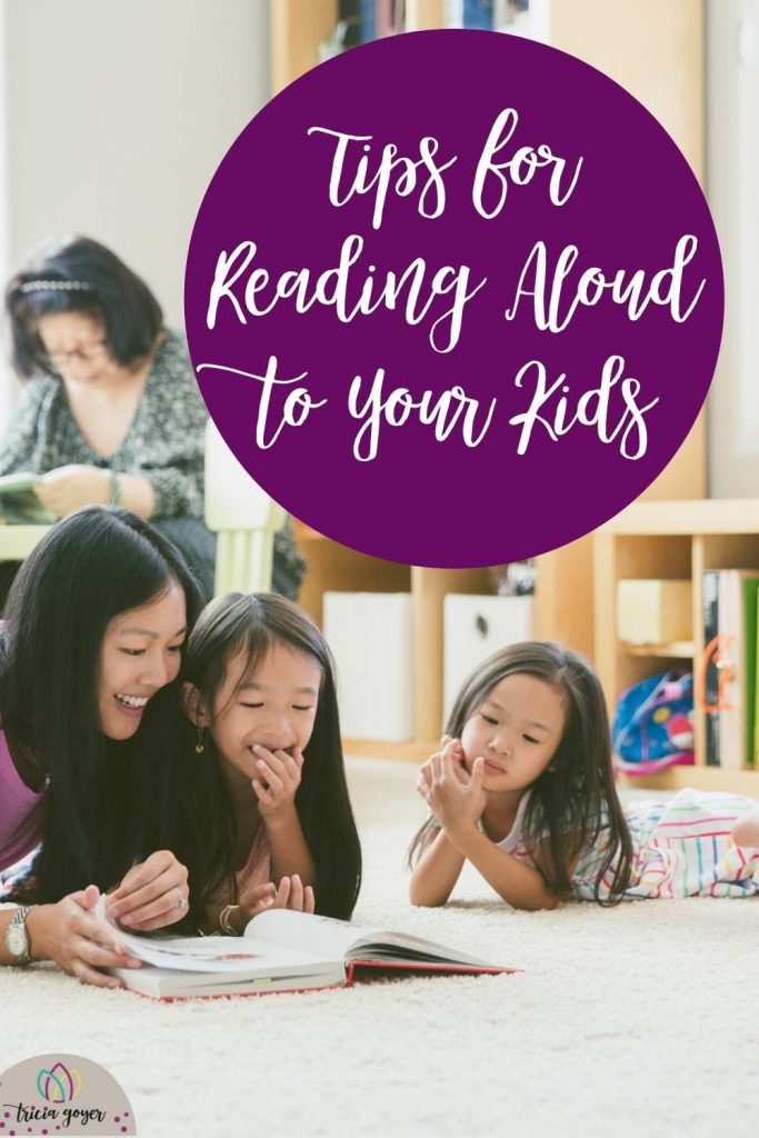 Enjoy these 19 tips for reading aloud to your kids from Tricia Goyer and her friends.