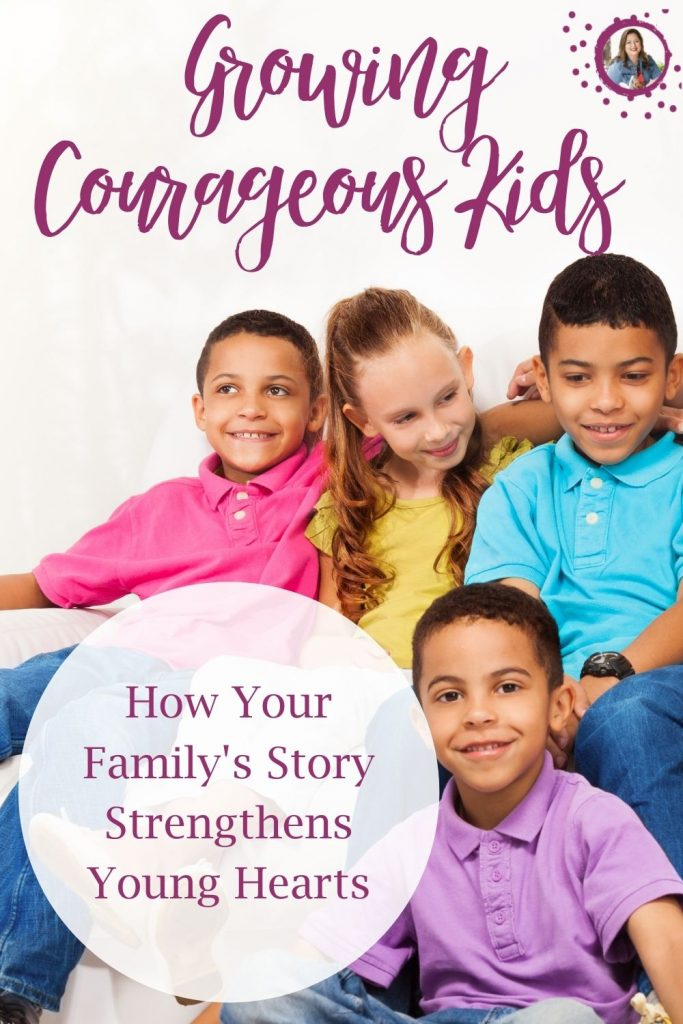 Growing Courageous Kids. Today I'm excited to have my friend Rebecca on my blog sharing how we can use our family histories to impart courage in our kids. I love this topic! I love history and especially family stories. I hope that once you read her tips, you'll be eager to dig into your family history, too!