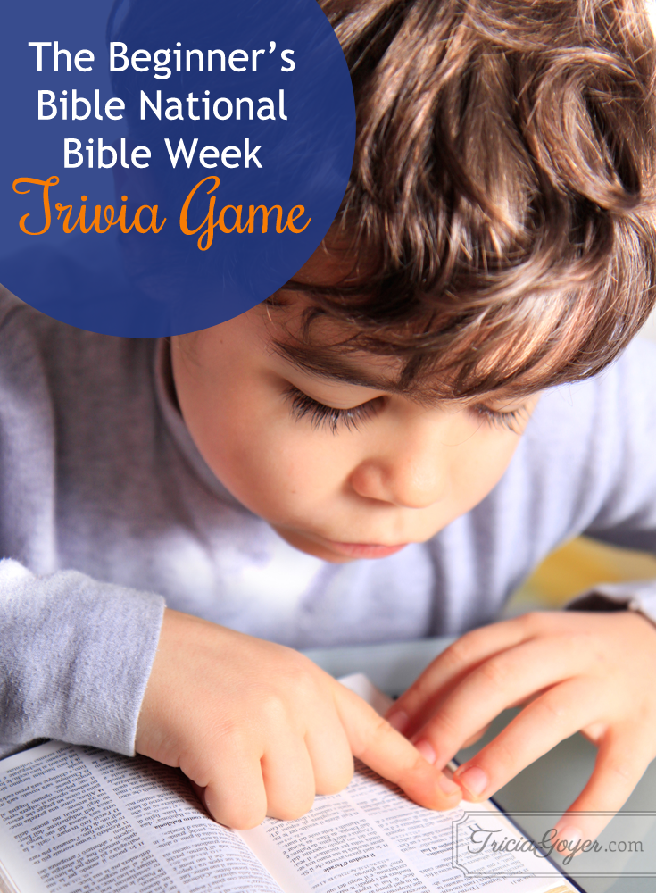 National Bible Week Trivia