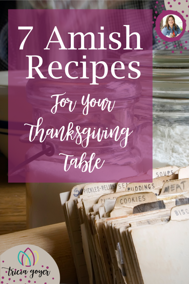 In search of a recipe for your Thanksgiving celebration? Look no further! These recipe are part of Tricia Goyer's 7 Favorite Amish Recipes for Your thanksgiving Table. Download the printable recipes as well!