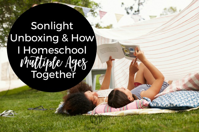 Sonlight Unboxing & How I Homeschool Multiple Ages Together