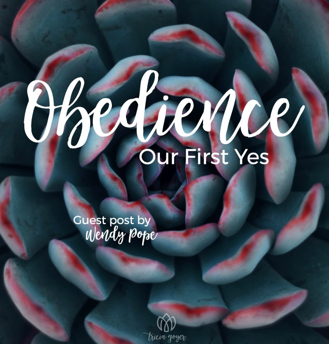 Obedience: Our First Yes | Wendy Pope