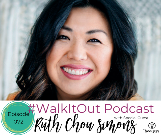 On today's #WalkItOut Podcast we're chatting with Ruth Chou Simons author of book Beholding and Becoming