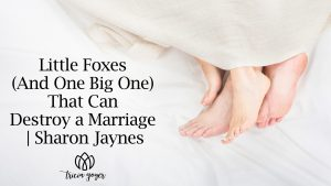 Little Foxes (and One Big One) that Can Destroy a Marriage | Sharon Jaynes