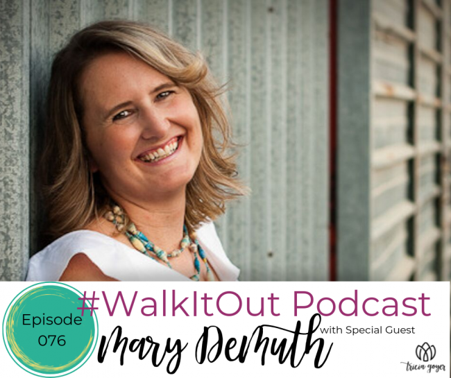 This week on the #WalkItOut Podcast, Mary Demuth and I chat about some tough topics — and what you can do about them. You're not going to want to miss this episode and be sure to pick up a copy of Mary's new book, We Too.