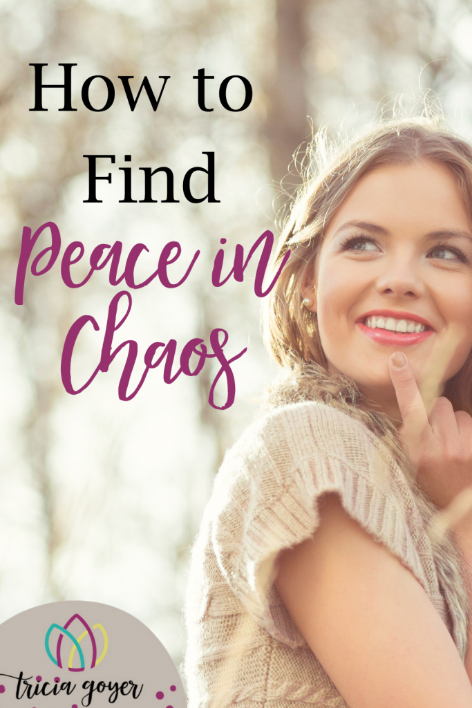 How To Find Peace in Chaos. I know that most of the time I look encouraging to my online friends. Why? Well, I don't want to be a complainer or a grumbler. But this is something I struggle with.Tricia Goyer shares more.