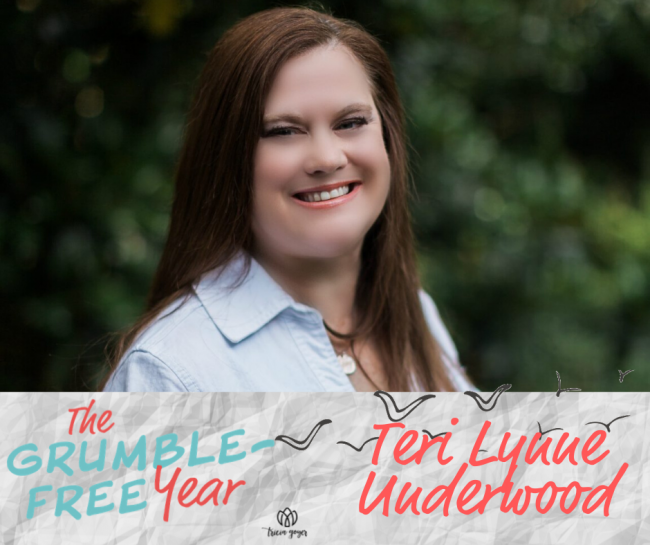 Today on this special episode of The Grumble Free Year Podcast, Terri Lynn Underwood shares her struggles with grumblings and how she taught her daughter about forgiveness.