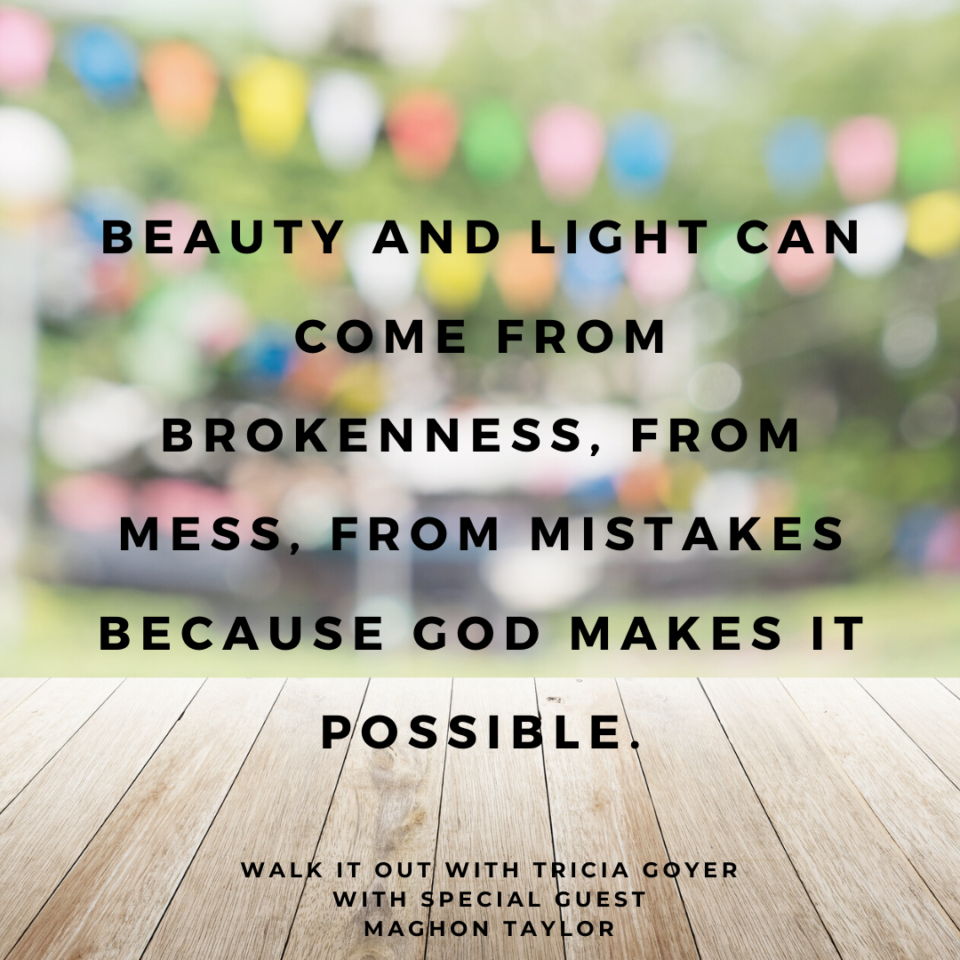 Walk it Out with Tricia Goyer Episode #086 Tenderhearted in Hope with Maghon Taylor. Maghon shares how she found light after hiding in abuse! I know you're going to love this episode.