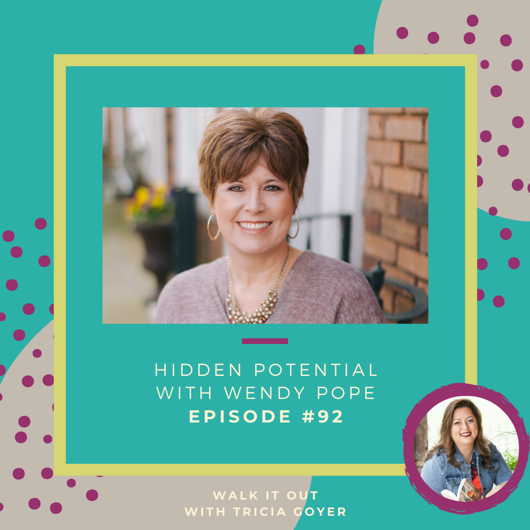 Walk It Out Episode #92 Hidden Potential with Wendy Pope! What is your hidden potential? I can't wait for you to listen in to my conversation with Wendy Pope! Enjoy!