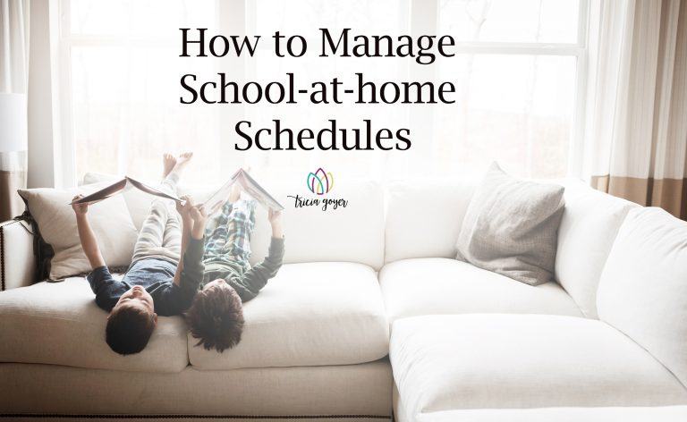How to Manage School-at-home Schedules