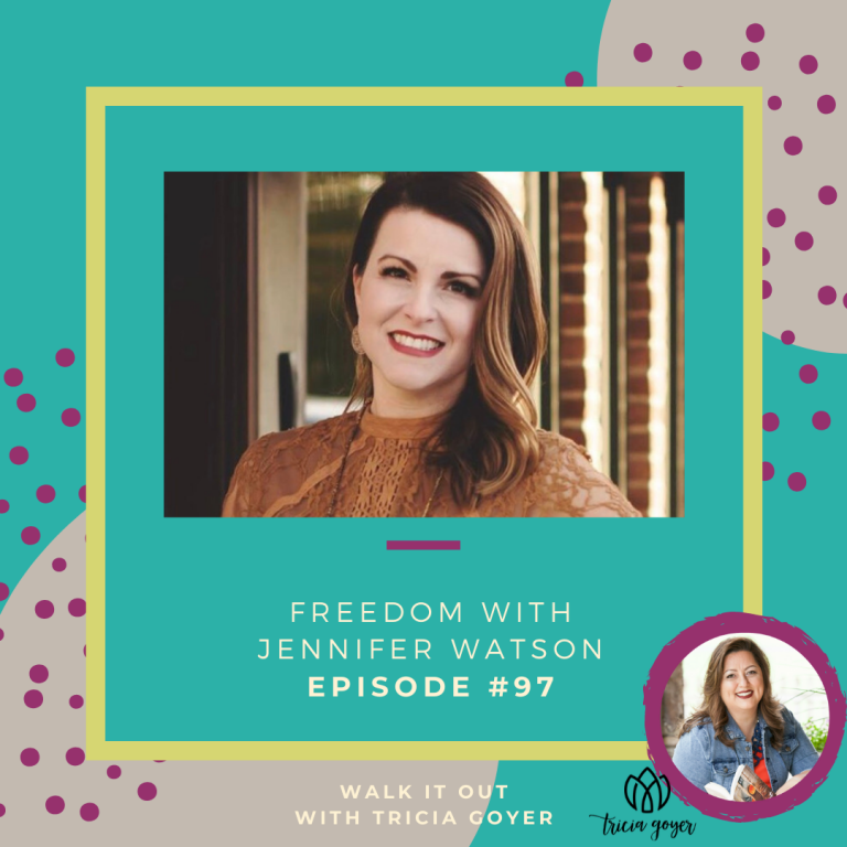 Walk It Out Episode #97 Freedom with Jennifer Watson! Do you wear brokenness like a badge? Jennifer Watson is chatting about the power of freedom. You don't want to miss this episode!