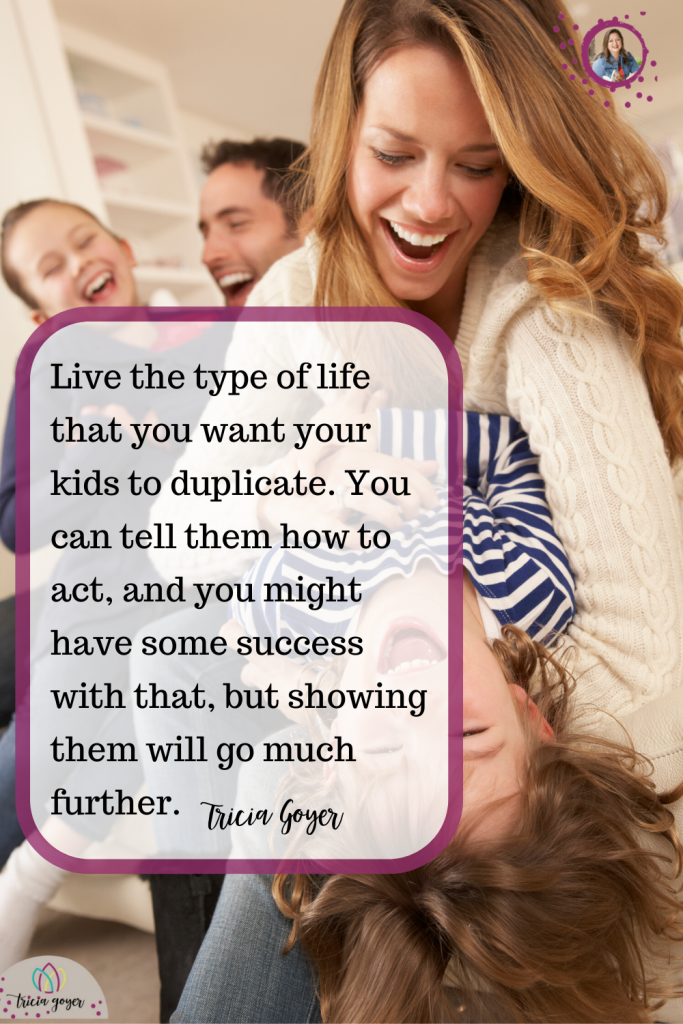 Quote from Tricia Goyer in her blog post How I Parent- Check out the blog post!