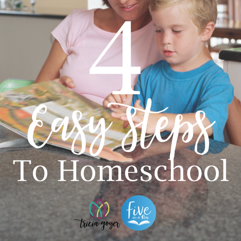 4 easy steps to homeschool tricia goyer
