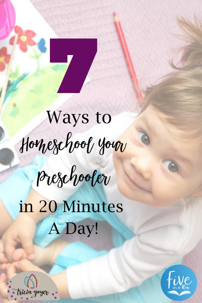 Learn how to homeschool your preschooler in only 20 minutes a day!