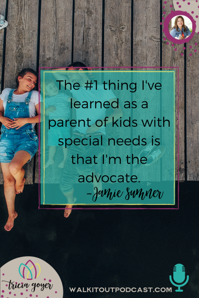 On this episode of Walk it Out with Tricia Goyer, I'm chatting with Jamie Sumner author of Eat, Sleep, and Save the World. If you have a child with special needs — this one's for you! Enjoy!