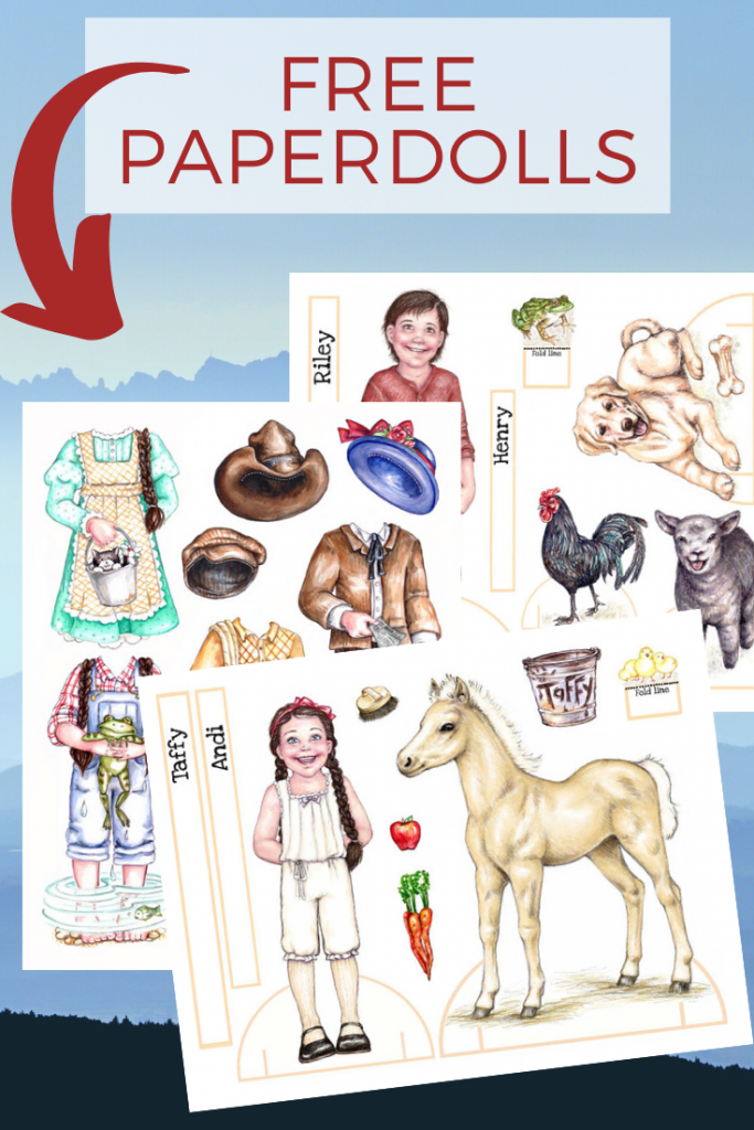 paper dolls with great homeschool resources for girls who love horses