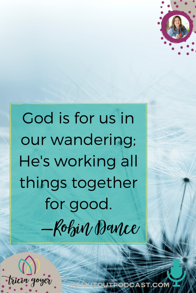 Today on Walk it Out, I'm chatting with Robin Dance about wandering. You are going to be so encouraged by this episode! Enjoy!