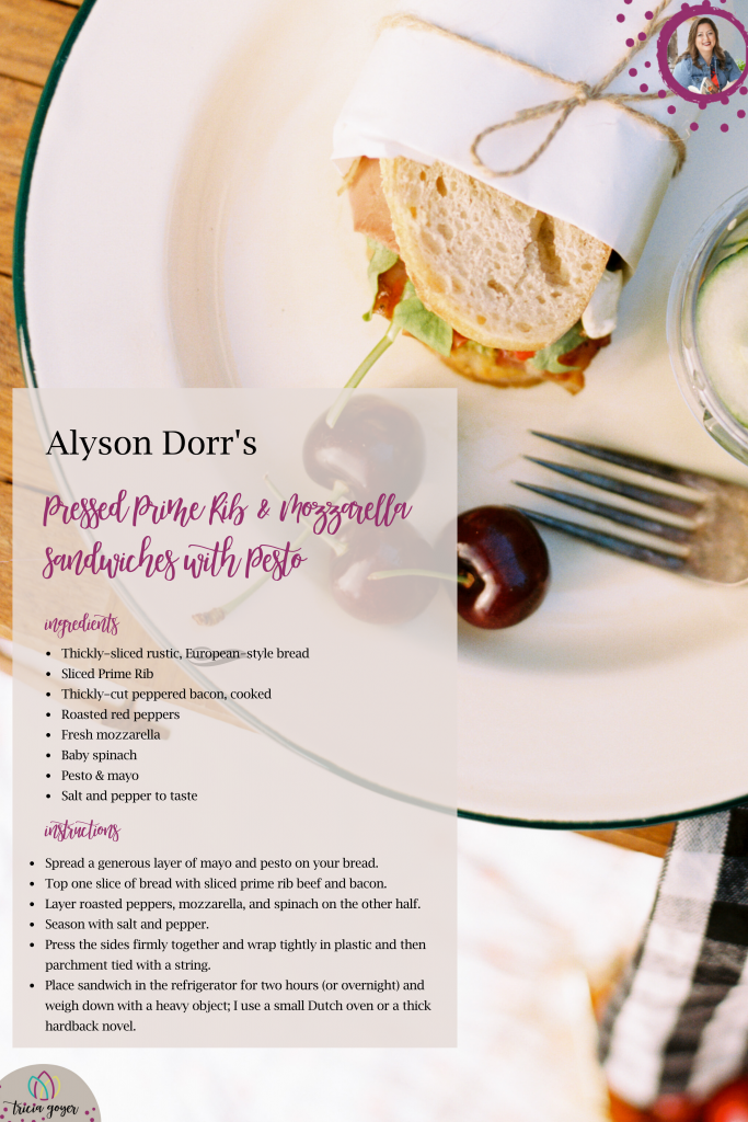 Alyson Dorr's Recipe on Tricia Goyer's Blog Head over for the Meet Me in Montana Giveaway