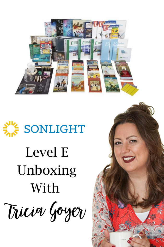 Tricia Goyer shares her secret strategy for homeschooling multiple grade levels at once. Join her on my unboxing of Sonlight Level E.