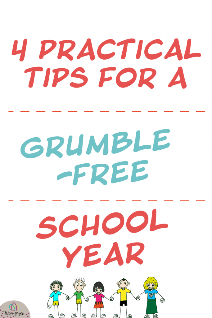 As a homeschooling mom of ten, there is always a lot going on in our home, and it's hard to make everyone happy all of the time. This has led to a lot of grumbling in the past. But a few years ago our family decided to do something different and replace out grumbling with gratitude. I chronicle our journey in The Grumble Free Year, and these are four practical things I learned that can also help your family to have a grumble-free school year!