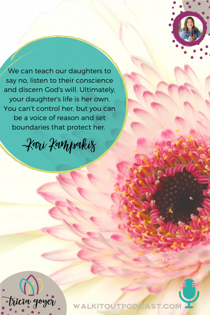 WIO #134: Love Her Well with Kari Kampakis. Kari and I talk about ways to connect with our girls, and how to pray. If you have ANY influence in a young woman's life, you're going to want to listen to this podcast!
