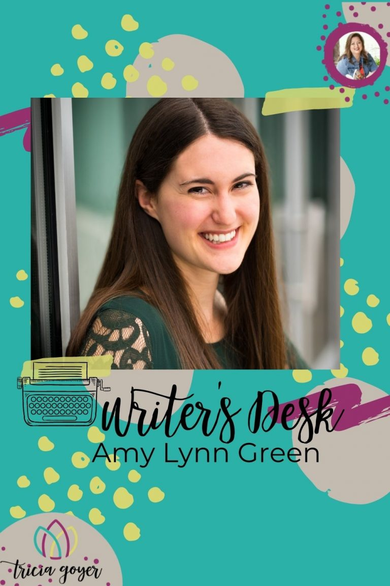 On this week's Writer's Desk, Amy Lynn Green shares about her new book, Things We Didn't Say, and is giving five copies away! Enjoy!