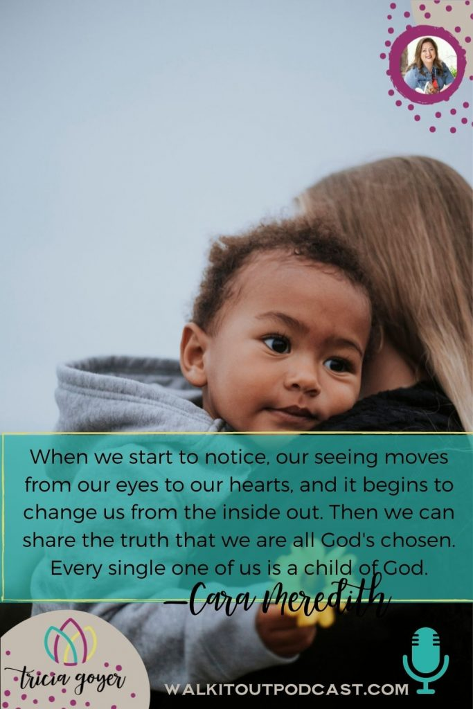 WIO 139: The Color of Life with Cara Meredith. On this episode of Walk it Out, Cara Meredith shares her beautiful story of her interracial marriage and mixed-race family.