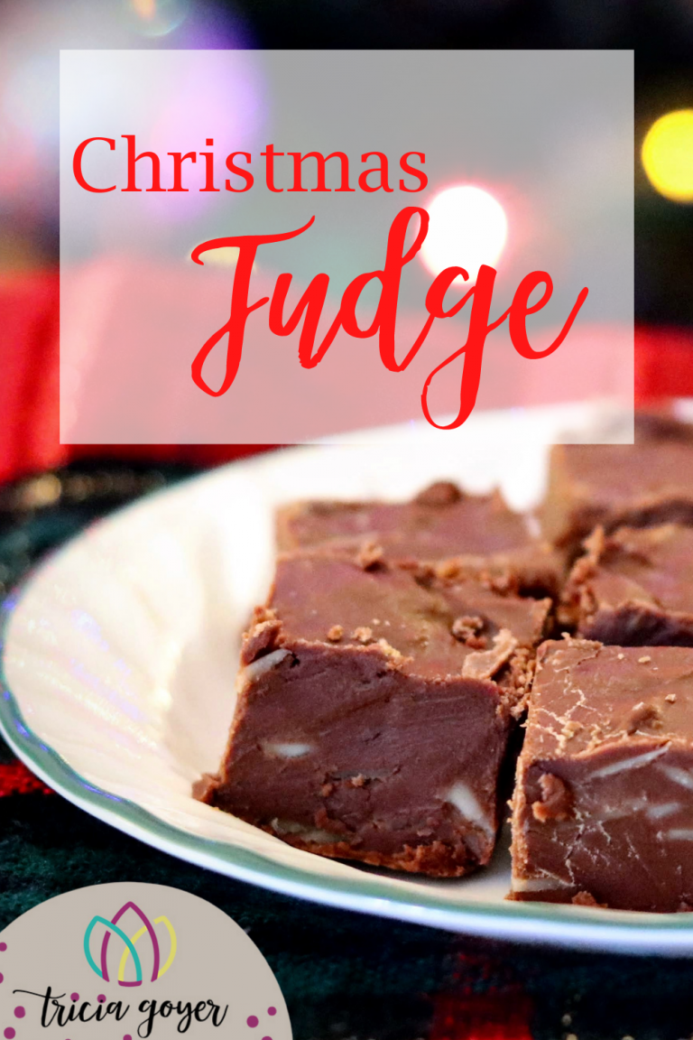 The most delicious Christmas Fudge recipe from Teri Underwood on Tricia Goyer's blog. Yum!