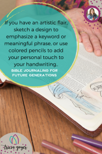 Bible Journaling for future generations