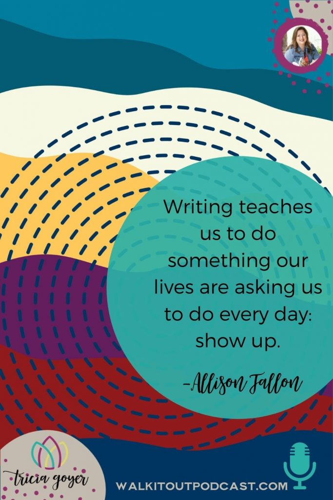 WIO #169: The Power of Writing it Down with Allison Fallon. This episode will have you reaching for your pen to write! There is power in writing it down!